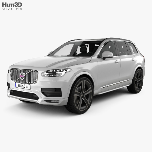 Volvo XC90 Heico with HQ interior 2016 3D model