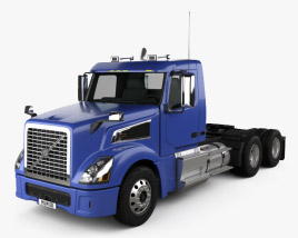 3D model of Volvo VNL VT64T 800 Day Cab Tractor Truck 2007