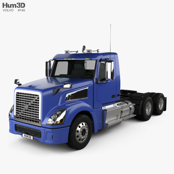 Volvo VNL VT64T 800 Day Cab Tractor Truck 2007 3D model