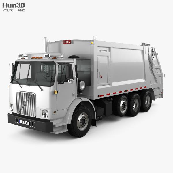 Volvo WX64 Garbage Truck Heil 2001 3D model