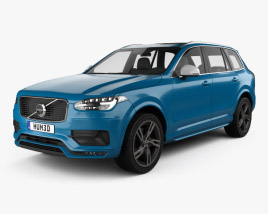 3D model of Volvo XC90 T6 R-Design 2016