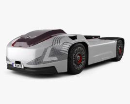 3D model of Volvo Vera Autonomous Prototype Tractor Truck 2018