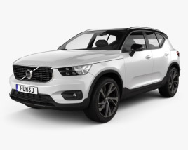 3D model of Volvo XC40 T5 R-Design 2018