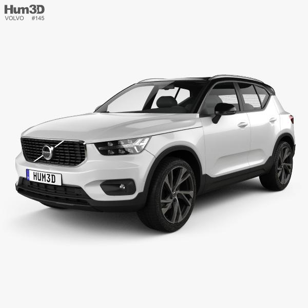 Volvo XC40 T5 R-Design 2018 3D model
