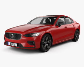 3D model of Volvo S60 T6 R-Design 2019