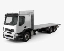 3D model of Volvo FE Flatbed Truck 2009