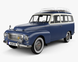 3D model of Volvo PV445 PH Duett 1958