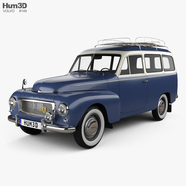 Volvo PV445 PH Duett 1958 3D model