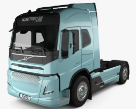 3D model of Volvo Electric Tractor Truck 2019