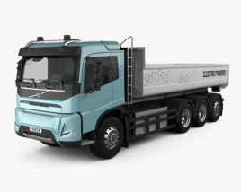 3D model of Volvo Electric Tipper Truck 2019