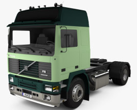 3D model of Volvo F10 Tractor Truck 1987
