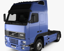 3D model of Volvo FH12 Globetrotter XL Tractor Truck 2-axle 1995