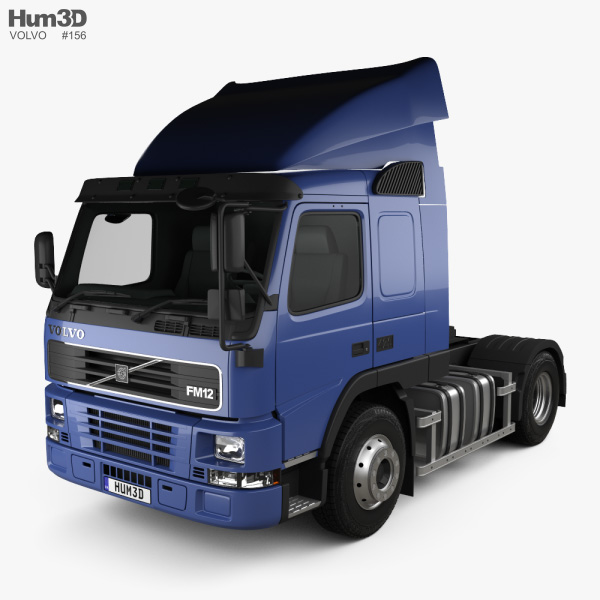 3D model of Volvo FM12 420 Sleeper Cab Tractor Truck 1998