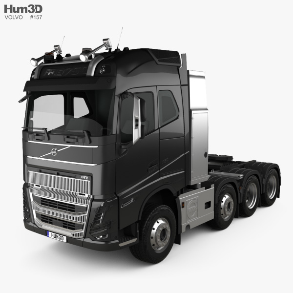 3D model of Volvo FH16 Globetrotter Cab Tractor Truck 4-axle 2020