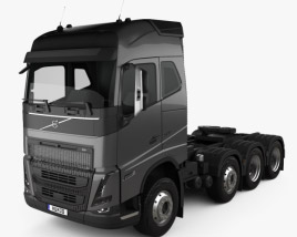 3D model of Volvo FH Globetrotter Cab Tractor Truck 4-axle 2020