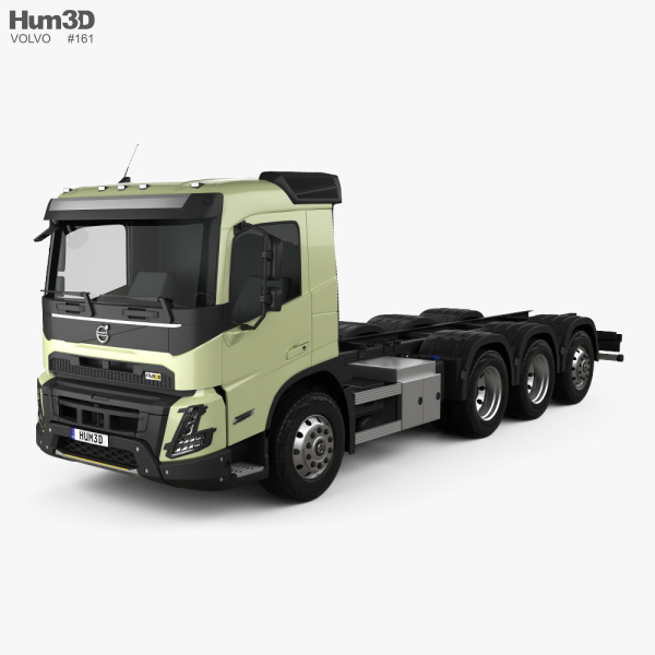 3D model of Volvo FMX Day Cab Chassis Truck 4-axle 2020