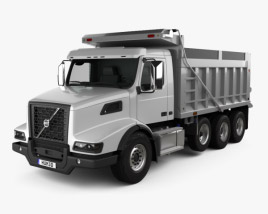 3D model of Volvo VHD Dump Truck 4-axle 2020