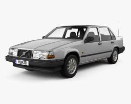 3D model of Volvo 940 1995