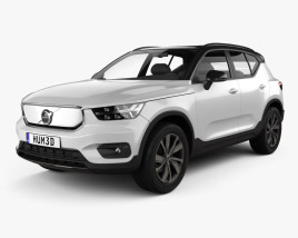 3D model of Volvo XC40 Recharge P8 2019