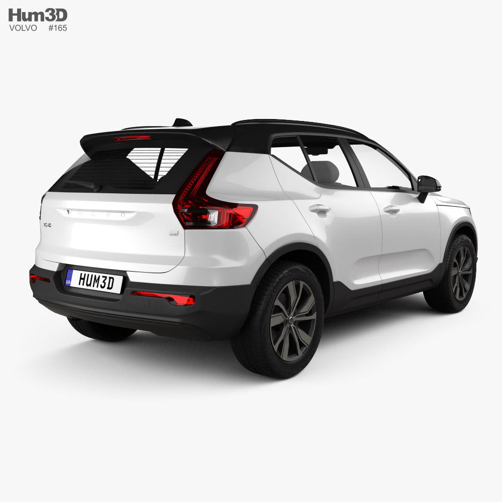 Volvo XC40 Recharge P8 2019 3d model back view