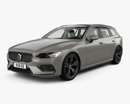 Volvo V60 T6 Inscription with HQ interior 2018 3D model