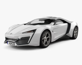 3D model of W Motors Lykan HyperSport 2012