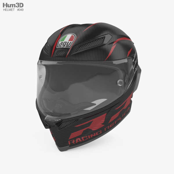 AGV Pista GP RR ECE DOT Multi Racing Helmet 3D model