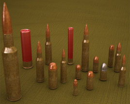 3D model of Cartridges (Bullets)