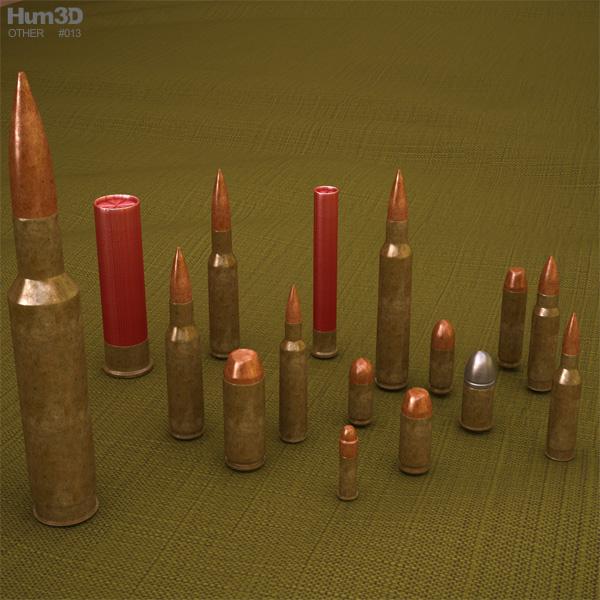 3D model of Cartridges (Bullets)