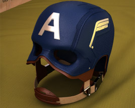 Captain America Helmet 3D model