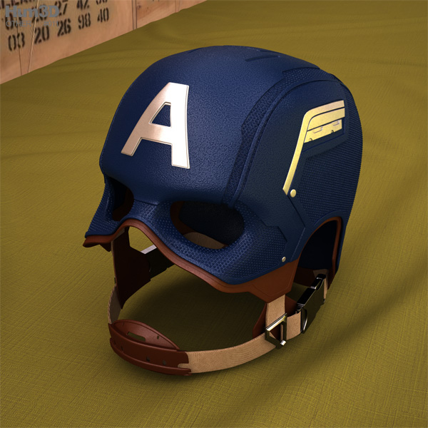 3D model of Captain America Helmet