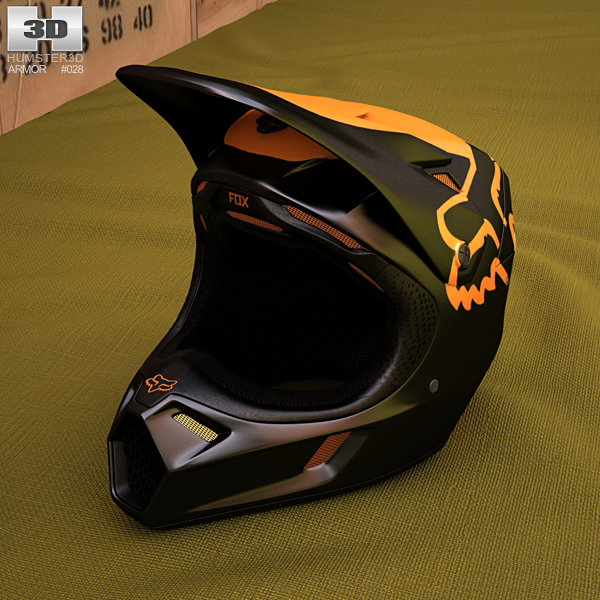 Fox V3 Moth Helmet 3D model