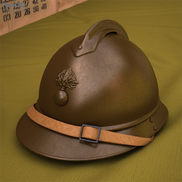 3D model of M15 Adrian helmet