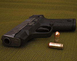 3D model of Smith & Wesson M&P SHIELD 9