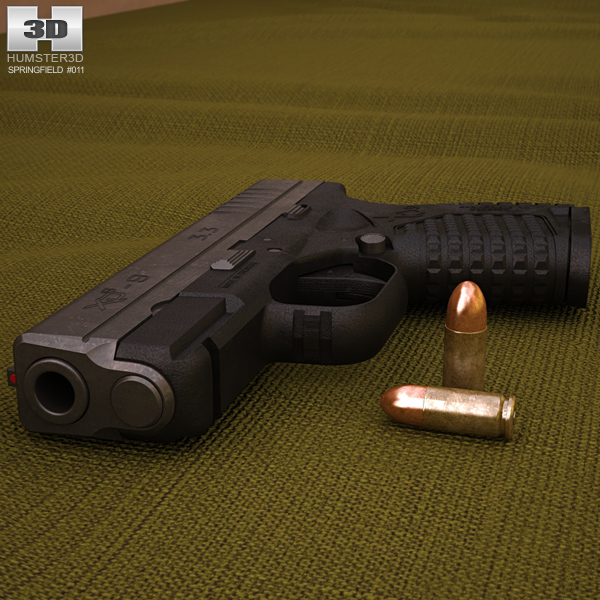 3D model of Springfield Armory XD-S 3.3