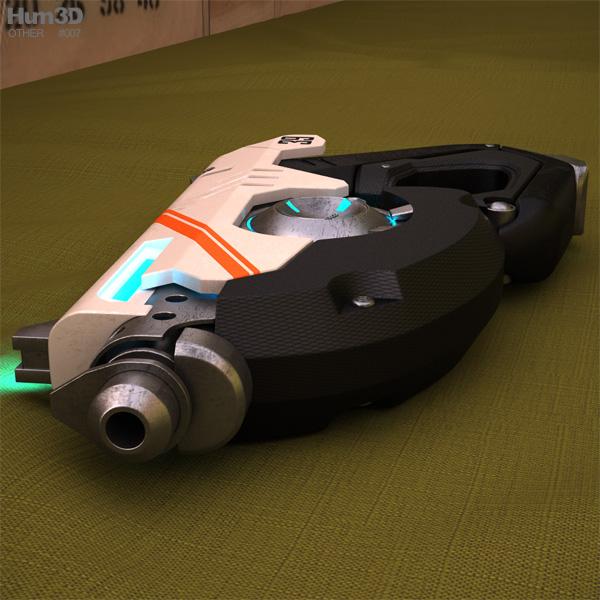 Tracer gun 3D model