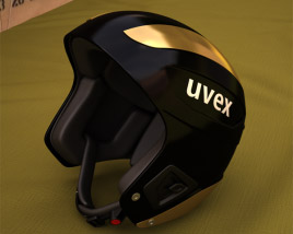 3D model of Uvex ski helmet