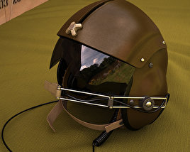 3D model of Vietnam SPH-4 Helicopter helmet