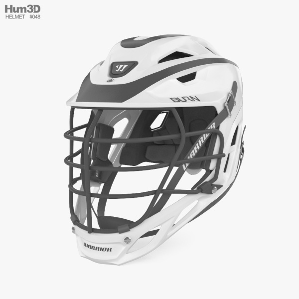 Warrior Custom Burn Lacrosse Helmet 3D model