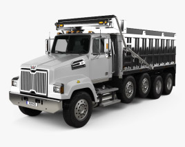 3D model of Western Star 4700 Set Forward Dump Truck 2011