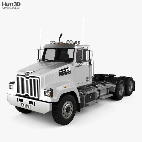 3D model of Western Star 4700 Set Forward Tractor Truck 2011