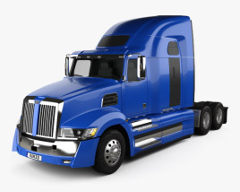 3D model of Western Star 5700XE Tractor Truck 2014