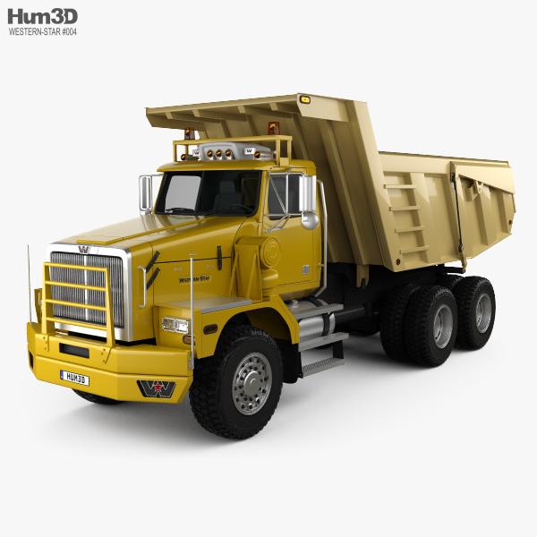 Western Star 6900 Dumper Truck 2008 3D model