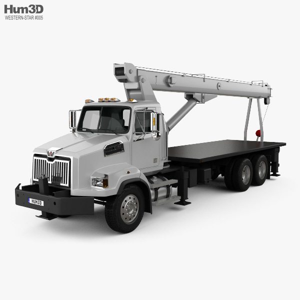 3D model of Western Star 4700 Set Back Crane Truck 2011