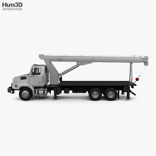 Western Star 4700 Set Back Crane Truck 2011 3D model