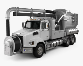 3D model of Western Star 4700 Set Back Sewer Vacuum Truck 2011