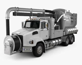 3D model of Western Star 4700 Set Back Sewer Vacuum Truck 2011