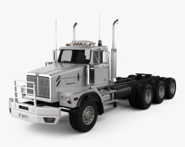3D model of Western Star 6900 Tractor Truck 2008