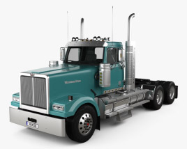3D model of Western Star 4900 SF EX Day Cab Tractor Truck 2015