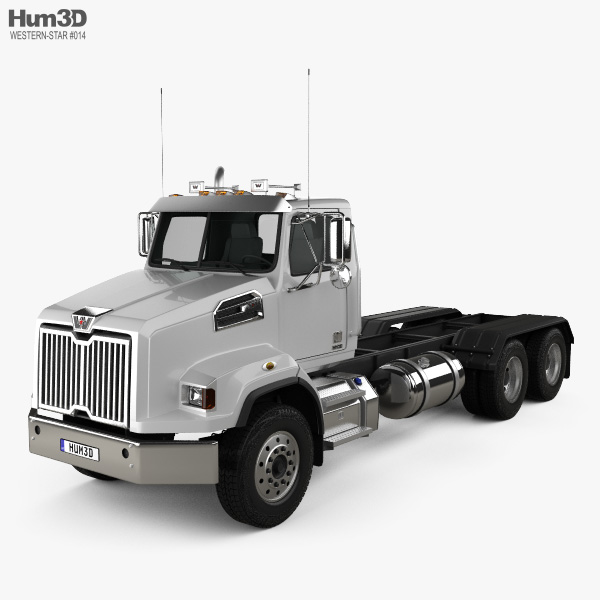 3D model of Western Star 4700 SB Day Cab Chassis Truck 2011